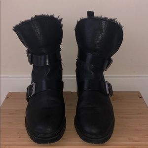 Zara fur lined boots